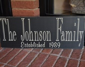 Parents Grandparents Gift - Custom Family Name & Established Year Wooden Sign