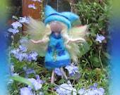 Lana - Needle Felted Wool  fairy girl , Flower fairy, Waldorf inspired fairy doll, wool