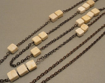 Riverstone and Vintaj Natural Brass Necklace