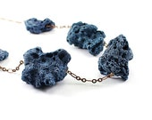 Coral necklace: blue necklace, chunky necklace, Hawaiian jewelry statement handmade modern jewelry
