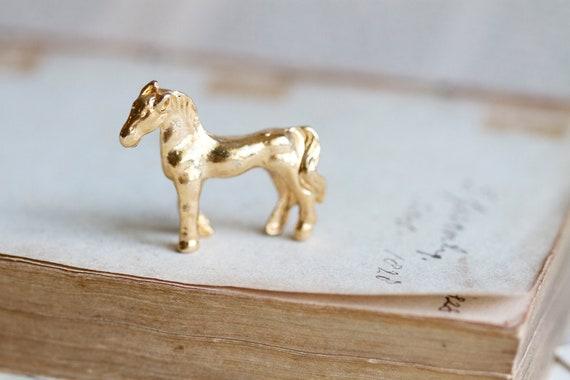 My Kingdom for a Horse - Tiny Lead Figurine - Golden Miniature