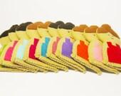 Girl finger puppet - 1 pcs - you choose color, Soft Felt Animal Toy, kids, children, baby, nursery, handmade gift, colorful