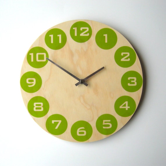 Objectify Kiwi Dot Wall Clock - Medium Size
