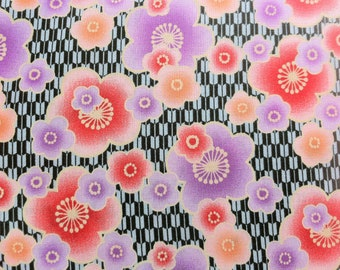 Japanese Blossom fabric in green by Kona Bay - Its All Good (1 yard) SALE SALE SALE