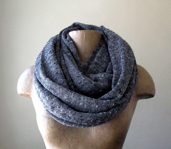 Chunky Knit Scarf - Infinity Sweater Scarf - Gray Circle Scarf - Chunky Infinity Cowl - Oversized Loop Scarf - Winter Scarf, Fall Scarf