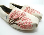 Cherry Blossom - CUSTOM TOMS SHOES