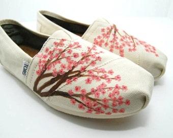 Cherry Blossom - CUSTOM TOMS SHOES