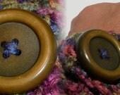 Large Crocheted Multi-color Bracelet: