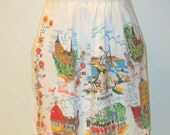 Vintage Denmark Apron Accessories Prop Cooking Holiday Meals Serving Linens Fabric  Cooking Gift under 25