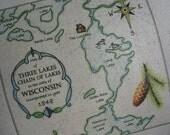 CUSTOM Map, Personalized Gift, Custom Lake Pillow, Beach, Ocean, Shore, Sea Shells, Nautical, Personalized Anniversary Gift