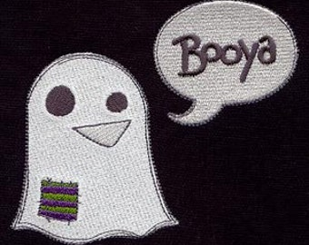 Booya Ghost Embroidered Flour Sack Hand/Dish Towel