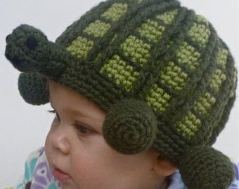 Crafty Tortoise Beanie and Pillow - PDF Crochet Pattern - Instant Download