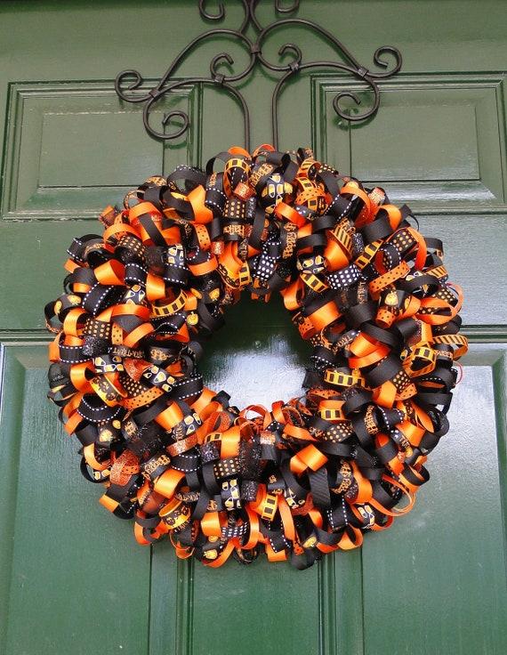 Halloween Ribbon Wreath Decoration