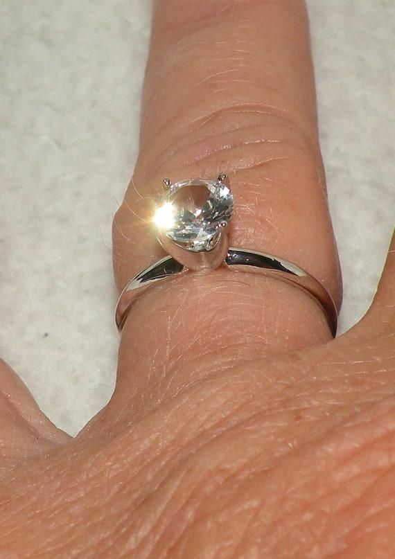 """14kt White Gold  White """"The Jennifer"""" Engagement Ring"""