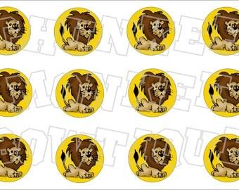 Little Lion bottlecap image sheet -   elementary school mascot