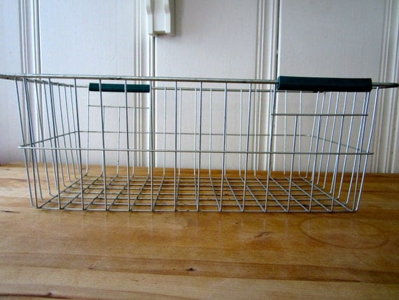 A Vintage Wire Industrial Basket