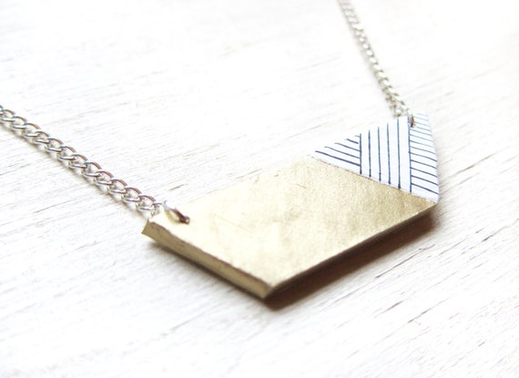 Geometric Trapezoid Necklace (Gold)