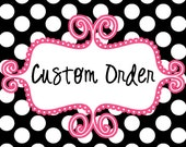 Custom Order - Embroidery Design - ANYONE