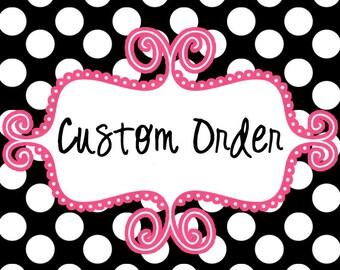 Custom Order - Embroidery Design - Reserved For - ALYSSA