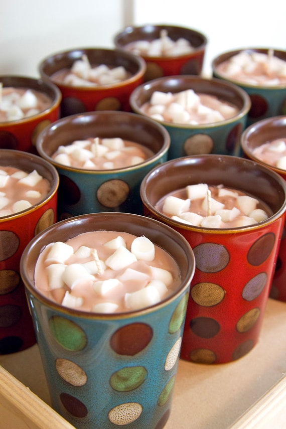 Best Chocolate Scented Flowers: Hot Chocolate Mug With Mini Marshmallows...Soy By
