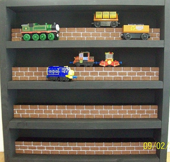DISPLAY CASE for Chuggington Die Cast Trains,Thomas Wooden Railway, Melissa & Doug or Other Collectibles