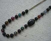 Black Scarab Necklace