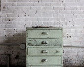 Industrial Scovill Green Set of Drawers, Number One