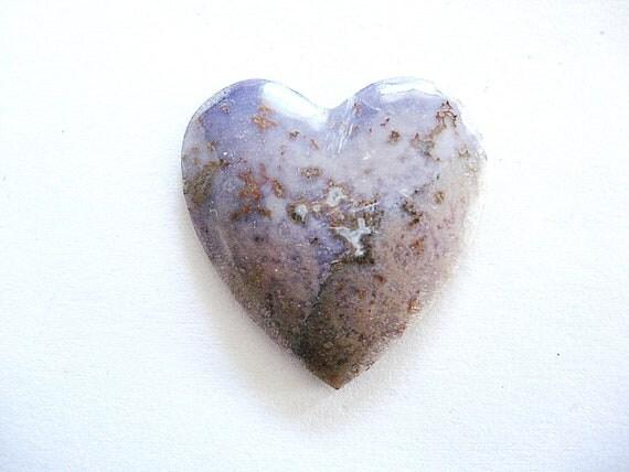 Burro Creek Agate Heart Shaped Cabochon