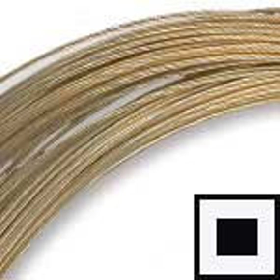 Low Close Out Price-22 Gauge Square- 14kt Gold Filled Wire-Dead Soft-12 inch section