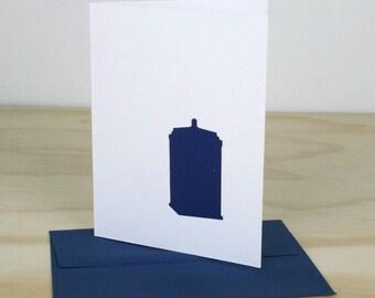 Doctor Who Tardis Letterpress Card