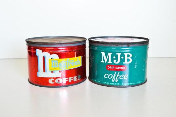 Two Coffee Tins