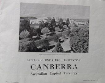 Canberra 1950s Australia vintage picture book