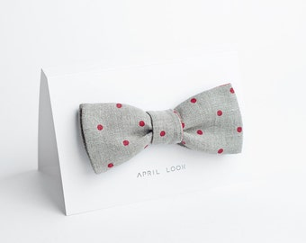 Dotted bow tie for men - double sided