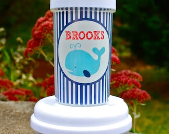 Personalized Sippy and Snack Cup Set