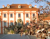 Orange chateaux photograph, Autumn, Fall, Troja Palace, Landscape photograph, Tangerine Tango, 10x7.5, Giclee print - titled: Troja Chateaux