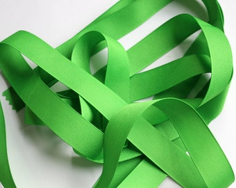 "7/8"" Grosgrain Ribbon - Apple Green - 5 yards"