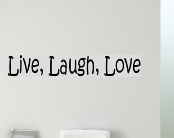 Live Laugh Love wall decal removable sticker