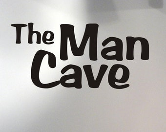 The Man Cave wall decal removable sticker