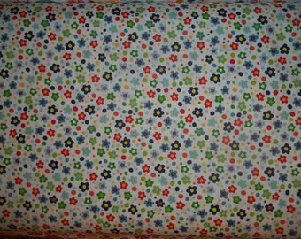 Spring Street by Carolyn Gavin and Lilla Rogers studio for P and B multi colored small flowers 1 yard cotton quilt fabric
