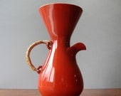 Vintage Fujita for Freeman Lederman Coffee Pot in Rust