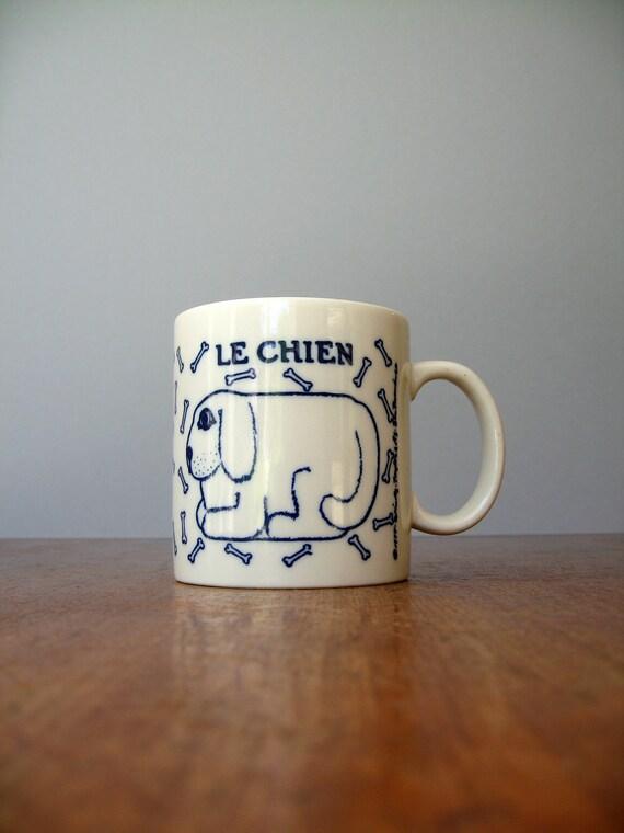 Vintage Taylor Ng Le Chien Mug - French Blue