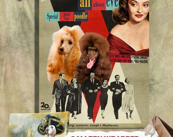 Poodle Print Fine Art Canvas - All About Eve  Movie Poster NEW COLLECTION by Nobility Dogs