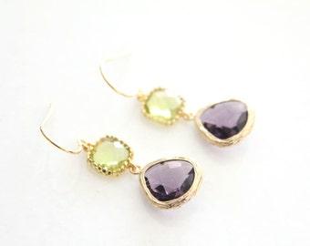 Purple & Green Glass Drops