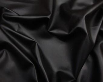 "Vinyl Faux leather Black Soft Skin Clothing / Upholstery PVC vinyl fabric per yard 55"" Wide"