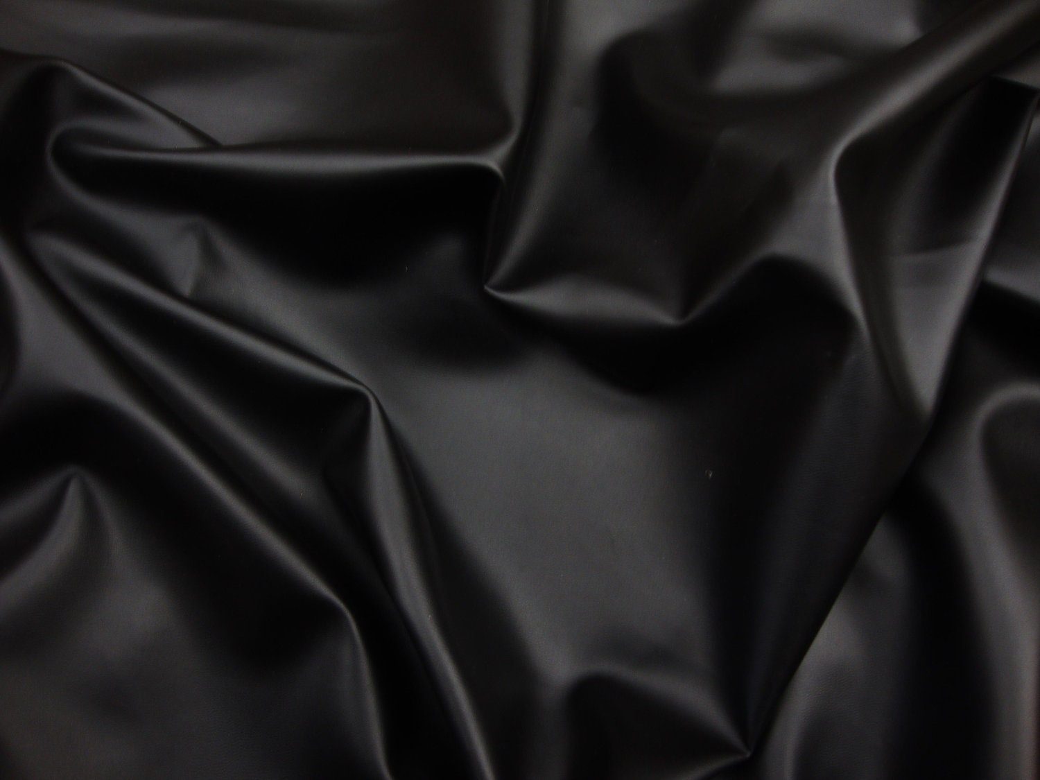Vinyl Faux Leather Black Soft Skin Clothing Upholstery