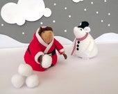 Plush Santa and Snowman Hamsters Red White Black. The Hamsters of Huntingdon