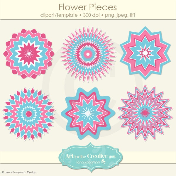 Layered Flower Template Flowers Digital Layered