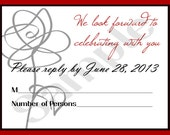 Rose Scribble Wedding RSVP for Lynette