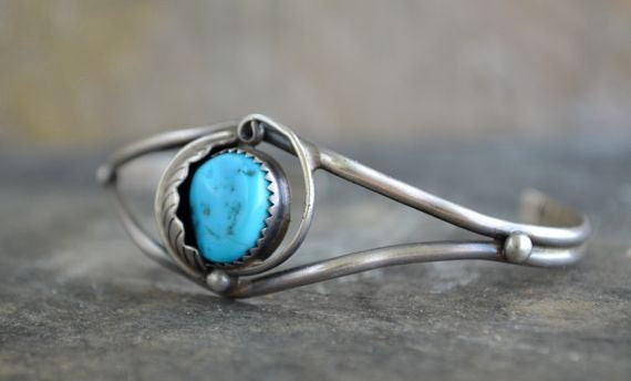 1960s Navajo Turquoise and Silver Bracelet