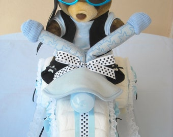 Bear Tricycle Rider Diaper Cake